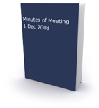 Minutes of Meeting 1st Dec 2008 Cover