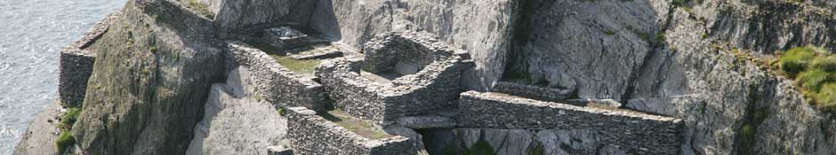 Aerial view of the Oratory Terrace, part of the Hermitage on the South Peak. (abstract detailed photo)